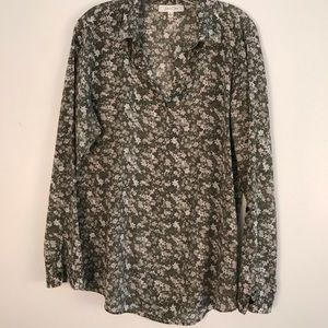 ANTHROPOLOGIE EDEN & OLIVIA PRINT TUNIC BLOUSE